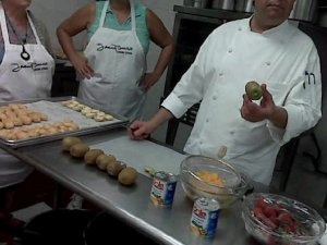 Chef Rob Sobkowski teaching