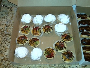 French mini pastries