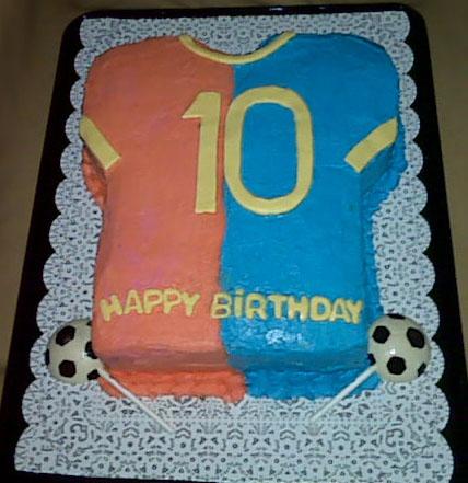 Soccer T-Shirt Cake - BARCELONA