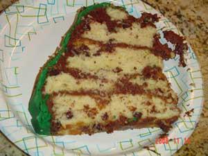 Purse Cake Slice