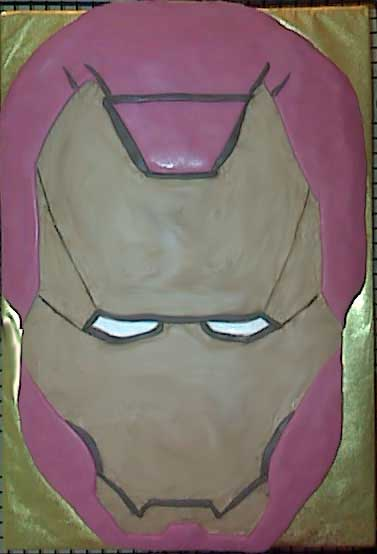 Iron Man Mask Cake