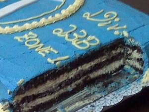 Key Clucb Cake- Chocolate and Buttercream