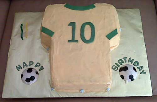 Soccer T-shirt Cake