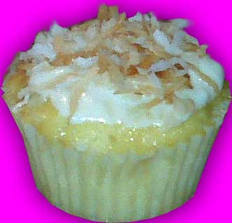 pineapple coconut cupcake