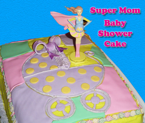 baby shower cakes. Baby Shower Cake for a Super